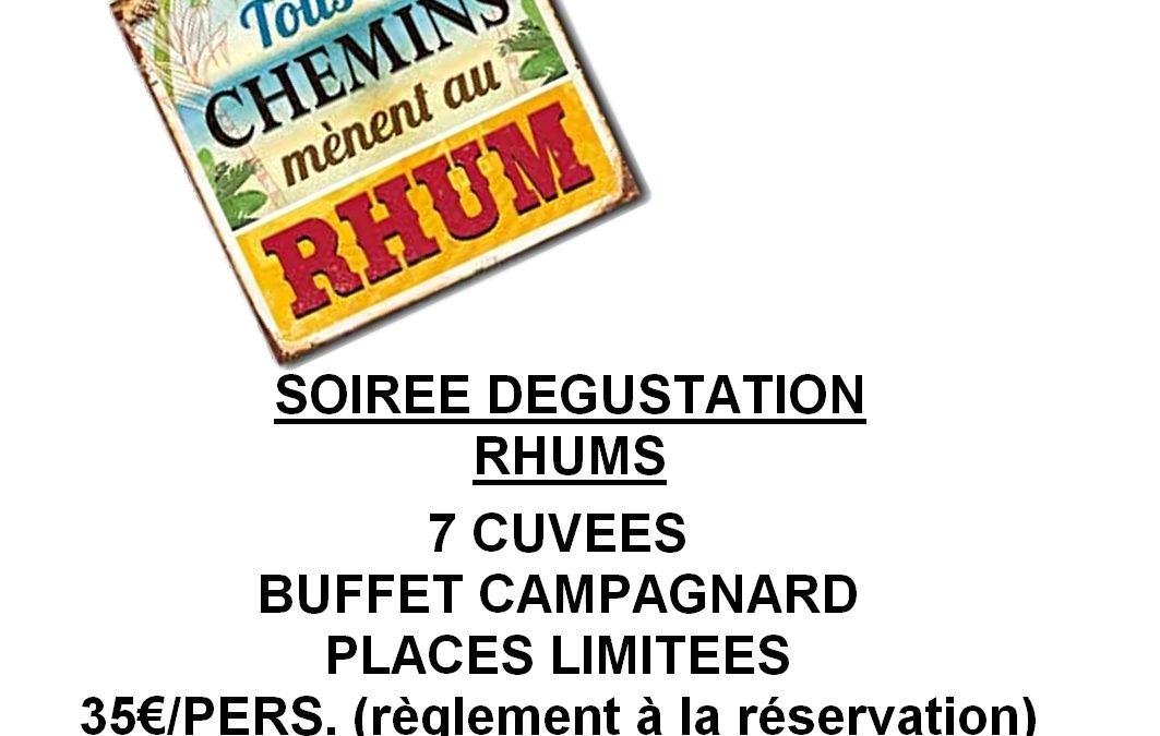 Soirée RHUM – Vendredi 27 mars 20H
